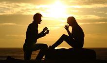 Petición de matrimonio en la playa